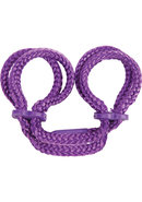 Japanese Silk Love Rope Ankle Cuffs Purple