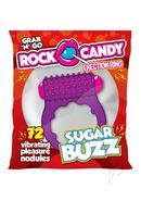 Rock Candy Sugar Buzz Vibrating Cock Ring - Purple
