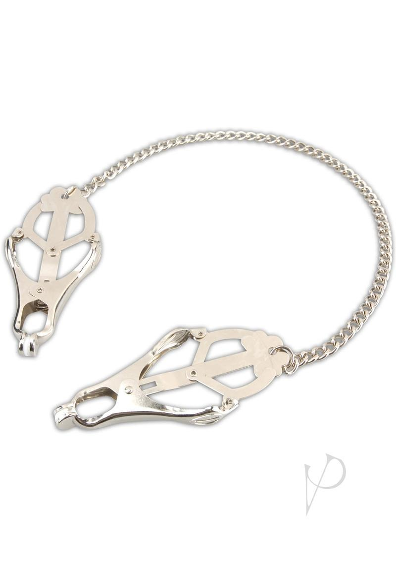 Lux Fetish Japanese Clover Steel Nipple Clamps Adjustable